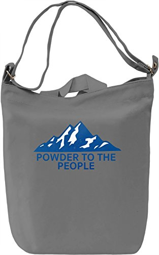 Powder To People Borsa Giornaliera Canvas Canvas Day Bag| 100% Premium Cotton Canvas| DTG Printing|