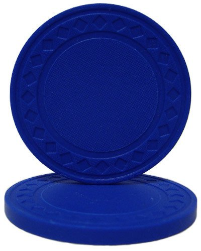 - Brybelly Diamond Ring Poker Chip 8.5-gram Clay Composite – Pack of 50 (Dark Blue)