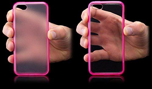 Apple iPhone 5C | iCues TPU Pare-chocs avec Clear Retour Case Violet | [Protecteur d'écran, y compris] protecteur de feuille transparente Temps clair de gel de silicone Housse étui de protection couve