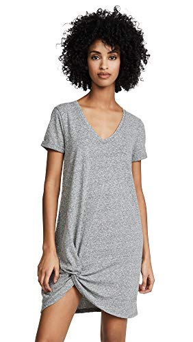 Z SUPPLY Women's The Triblend Side Knot Dress, Heather Grey, Medium