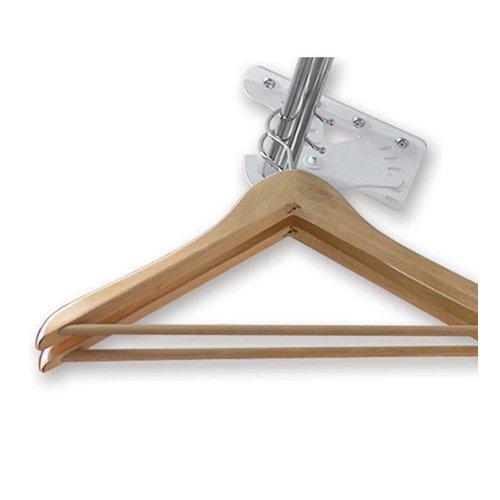 Slanted Bracket - Brushed Metal Clothes Rod Bracket Sloped Ceiling