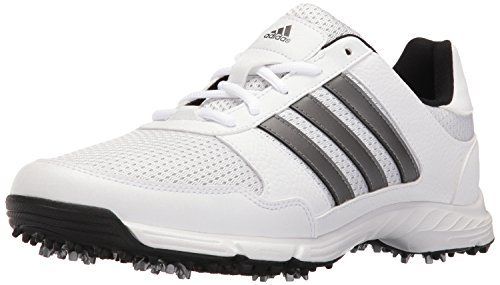 adidas Men's Tech Response Golf Shoe, White, 10.5 W US (Best Spikeless Golf Shoes For Walking)