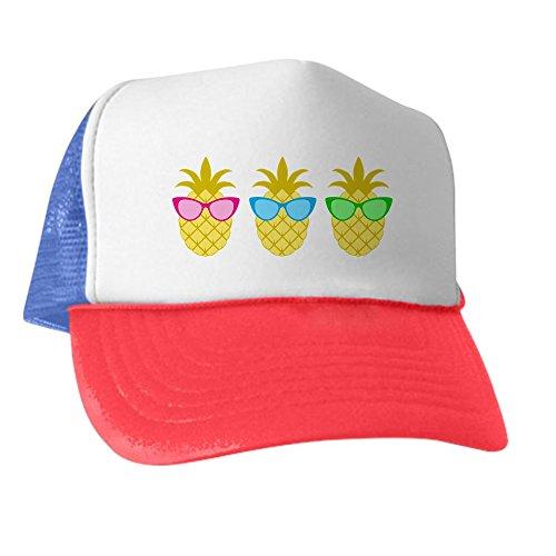 551cadb3251 Amazon.com  CafePress - Sunny Pineapple Trio - Trucker Hat