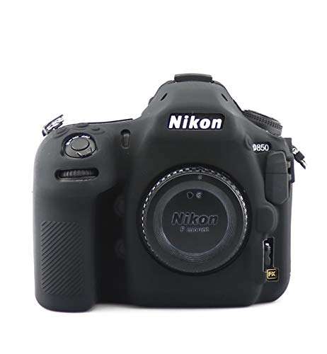 TUYUNG Camera Body Housing Case, Silicone Camera Case Protective Cover for Nikon D850 Digital Camera - Black