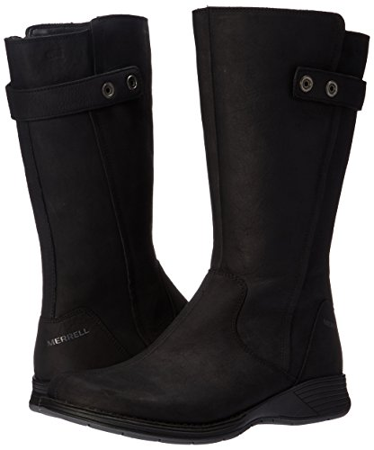 Merrell Womens/Ladies Travvy Tall Waterproof Leather Country Boots Black