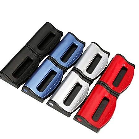 Ajustable 2 Pinzas universales para cintur/ón de Seguridad para Asiento de Coche con Hebilla de pl/ástico XuBa