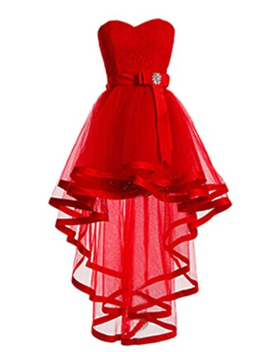 Homecoming Party Kurz Kleider High Kleider Mint Fanciest Low Spitzen Red Ball Damen xYTx0wq8