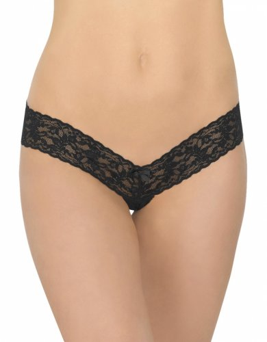 Hanky Panky Women's After Midnight Open Gusset Low Rise Thong