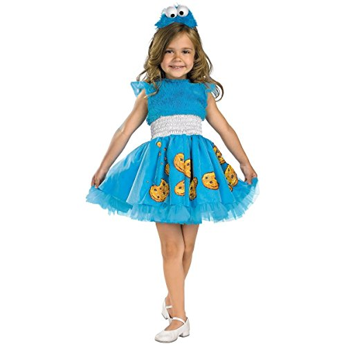 Frilly Cookie Monster Costume - Toddler Medium (Little Red Riding Hood Cool School)