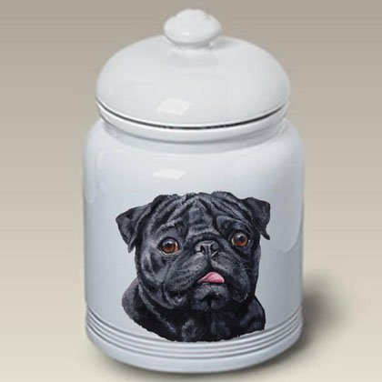 Pug (Black): Ceramic Treat Jar 10 High #45089 by Best of Breed