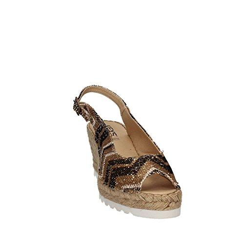 5354 Sandalo Zeppa Donna Keys Platino FYdqY