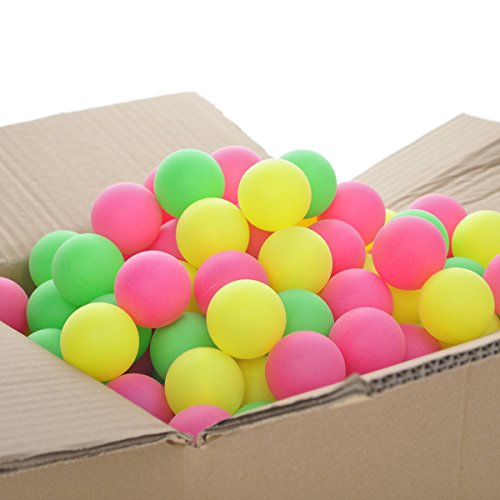 r Ping Pong Balls 40mm Decoration Balls Assorted Colors-Assorted Neon ()