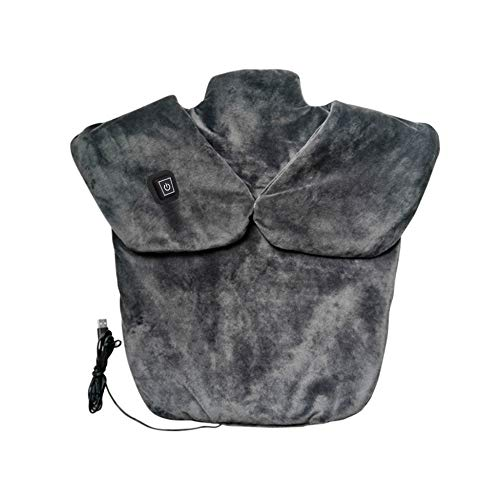 Large Heating pad for Neck and Shoulders Pain Relief, USB Charging Adjustable Temperature Pad for Neck, Gray