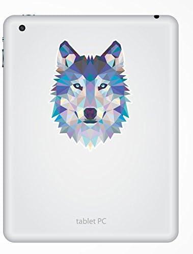2 x 10cm//100mm Abstract Husky Wolf Vinyl Sticker Decal Laptop Travel Luggage Car iPad Sign Fun #6214