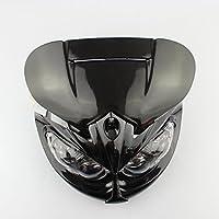 Black Street Fighter Headlight Fairing Custom Motorcycle Naked Off Road Dirt Bike