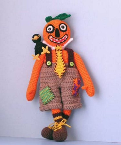 Mr Pumpkinhead and Crackerjack, a Crochet Pattern By Sue Pendleton