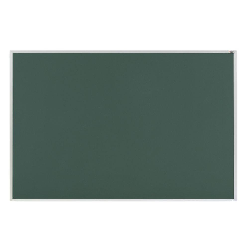 Marsh Pro-Lite 60''x72'' Green Porcelain Chalkboard, Standard Aluminum Trim / 1'' Map Rail