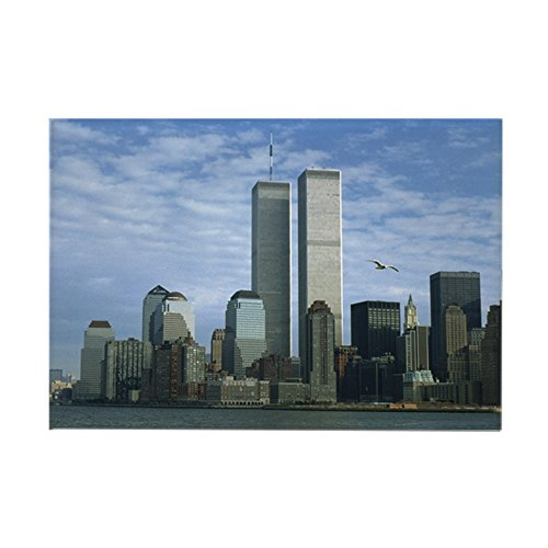 CafePress - Twin Towers Rectangle Magnet - Rectangle Magnet, 2