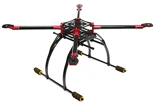 Integy RC Model Hop-ups C25864RED Custom Machined Alloy+Carbon Fiber Quadcopter Upgrade Frame 550 Size Foldable by Integy