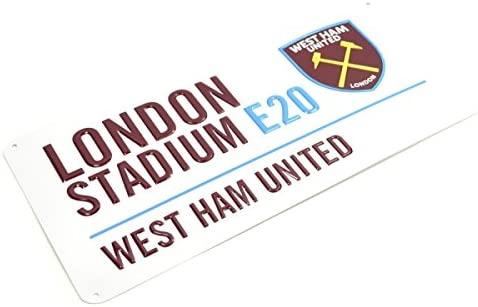 West Ham United Football Club London Stadium White Street Wall Sign Official