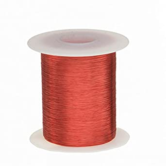 0.0038 Diameter Remington Industries 39SNSP.25 39 AWG Magnet Wire Red 6515 Length Enameled Copper Wire 4 oz