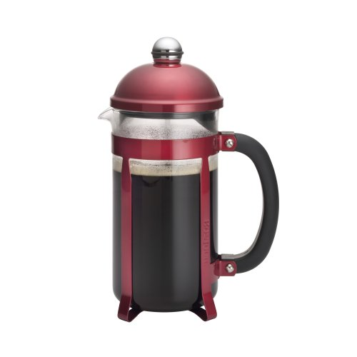 BonJour Coffee 8-Cup Maximus French Press, Candy Apple Red