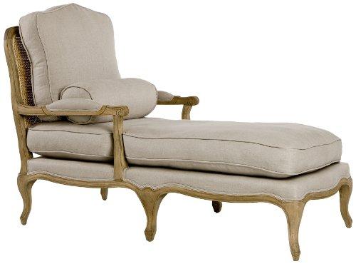 Zentique Bastille Chasie Lounge, Natural Oak/Linen Review