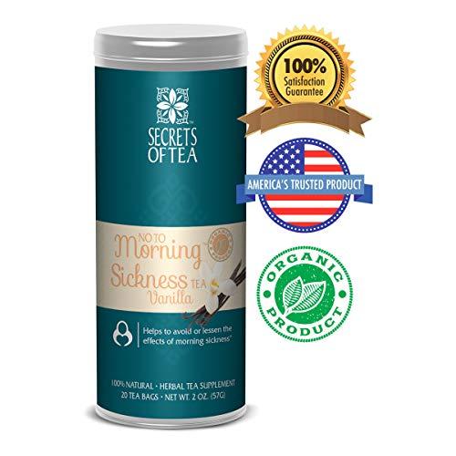 - Secrets of Tea - No To Morning Sickness Pregnancy tea-Certified USDA Organic No Caffeine- Morning Sickness Relief,Nausea, Constipation (Vanilla)