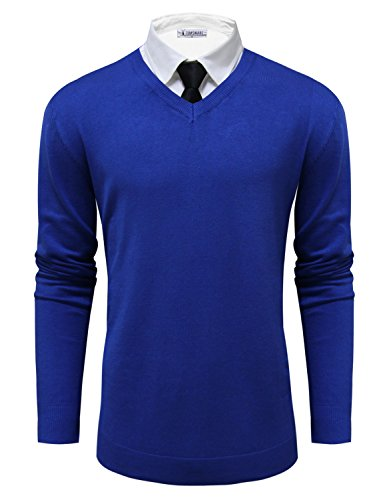 Tom's Ware Mens Classic V-Neck Long Sleeve Sweater
