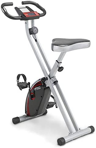 Circuit Fitness Folding Upright Exercise Bike with Adjustable Resistance 250 lb. Max. Capacity AMZ-150BK