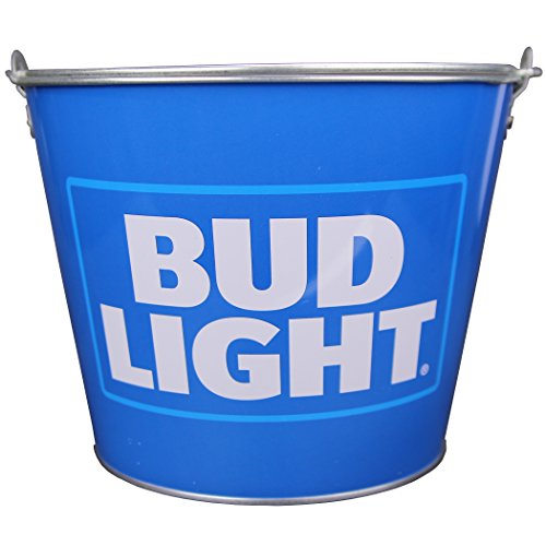 Beer Brand Full Color Aluminum Beer Bucket(Bud Light (Light Blue Logo)) by Beer Bucket
