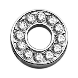 Mirage Pet Products Clear Bling Sliding Collar Charms, 3/...