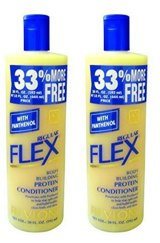 Revlon Flex Regular Conditioner body building protein conditioner 592 ml / 20 Oz - Worldwide Shipping (Pack of 2)