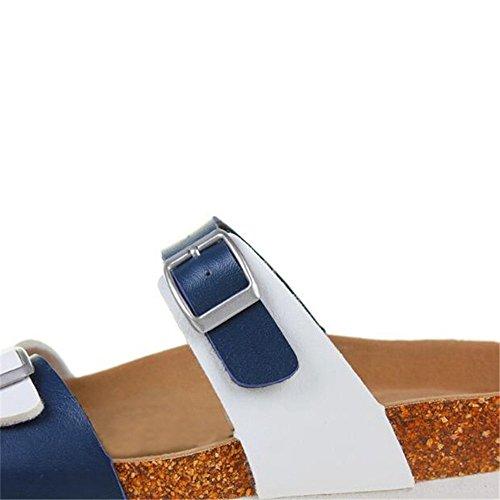 Women's Flat On Slide Comfort YaMiFan Sandal 8 Shoes Cork Sandal Bottom Platform qgATzdwO