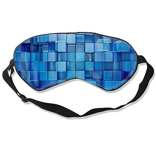Homlife Sleep Mask 100% Silk Eye Mask Abstract 3D Cubes Art Eye Cover Sleeping Mask for Travelling, Night Noon Nap, Mediation Or Yoga
