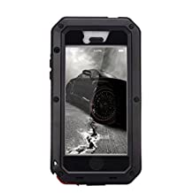 R MAO- Aluminum Metal Case for iPhone 5/5S/SE,[Military Heavy Duty]Extreme Waterproof Shock/Dust/Dirt/Snow Proof Gorilla Glass Protection Cover Case