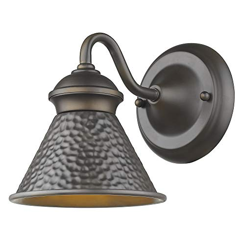 Sirét Lighting ST7001-ORB Pickwick 1-Light Oil Rubbed Bronze Small Dark Sky Outdoor Sconce