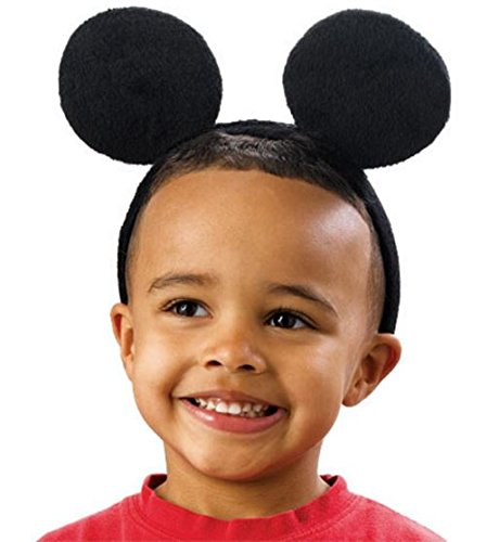 [Mickey Mouse Ears Headband, Black, Pack of 12] (Costumes For Adults Diy)
