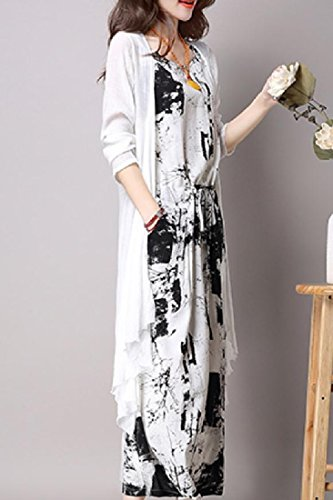 Dress Long Suit Folk Dress Sections Women Tank Beachwear Black Style Coolred xUqgwH5