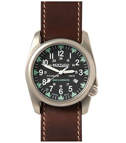Bertucci A-4T Yankee Illuminated Watch Black/Ti-Hoween Nu...