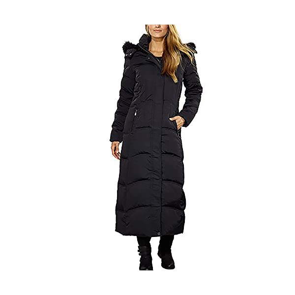 d1645edfa09 Madison Maxi Down Coat with Detachable Faux Fur for Women - Ma-Zone