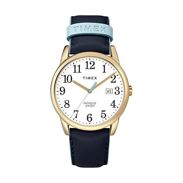 Timex Women's Easy Reader Date Leather Strap 38mm Watch