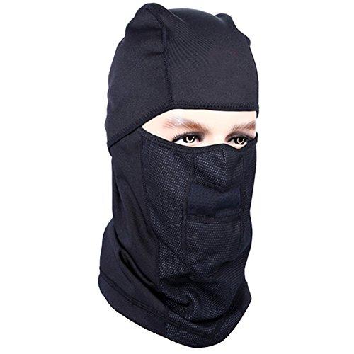 Winter Balaclava Windproof Cycling Face Mask Black Warm Ski Mask for Men and Women