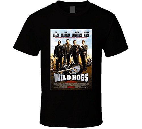 Wild Hogs Cool 21st Century Comedy Classic Movie Poster Fan T Shirt XL Black
