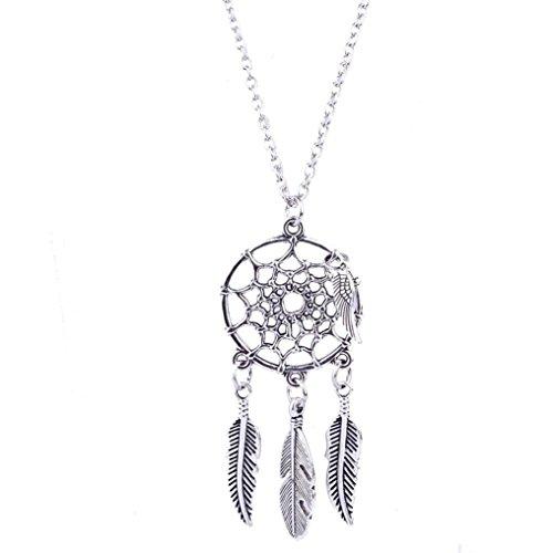 Usstore Women Fashion Retro Jewelry Dream Catcher Necklaces Chain Pendants Gift (Tumblr Diy Christmas)