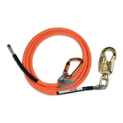 """5//8/"""" x 10/' Steel Core Flip line Kit  Steel Swivel Snap hook"""