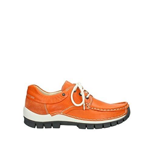 Wolky 4700 Jump - Zapatos de cordones de Piel para mujer Gris * 755 orange leather
