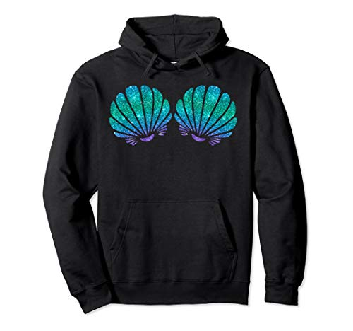 Mermaid Sea Shell Bra Costume Pullover Hoodie
