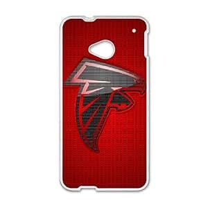 Atlanta Falcons Team Logo HTC One M7 Cell Phone Case White Delicate gift JIS_397919