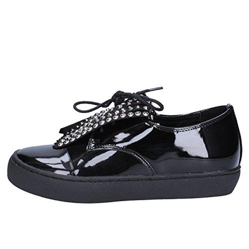 Cordones Zapatos Negro para Mujer Charol Sara Lopez de Negro de SZpCqTx